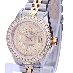 Rolex Lady Datejust Champagne Diamond Dial 26mm